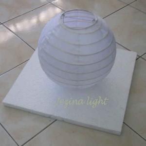 1 Lampion Apung Bulat Warna Putih