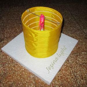 1 Lampion Apung Silinder Menggunakan Lampu led