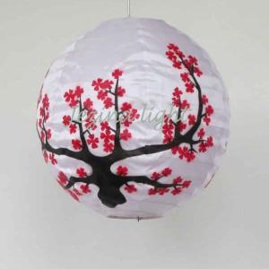 1 Lampion Bulat Motif Bunga sakura