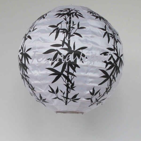 1 lampion bulat motif Bambu