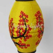 ;lampion oval, lampion bunga sakura, lampion gantung, lampion kertas