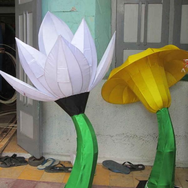 lampion karakter, lampion bunga